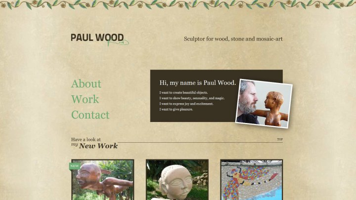 Paul Wood | Sculptor for wood, stone and mosaic-art