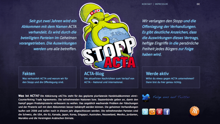 Stopp ACTA – Online Petition
