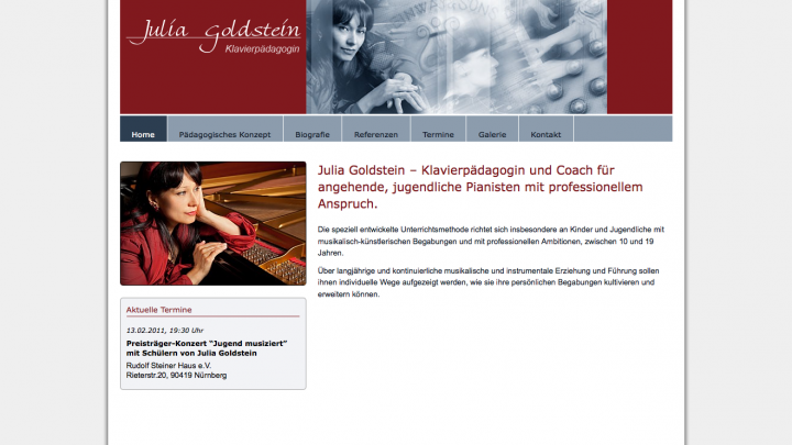 Julia Goldstein, Klavierpädagogin