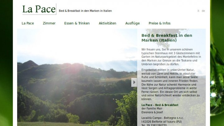 La Pace - Bed & Breakfast in den Marken (Italien)