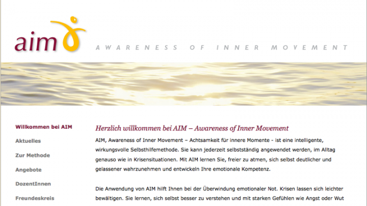 AIM - Awareness of Inner Movement