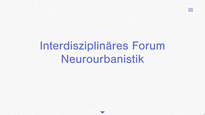Interdisziplinäres Forum Neurourbanistik