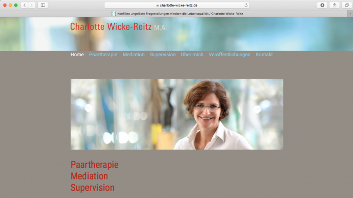 Paartherapie Mediation Supervision  Charlotte Wicke-Reitz