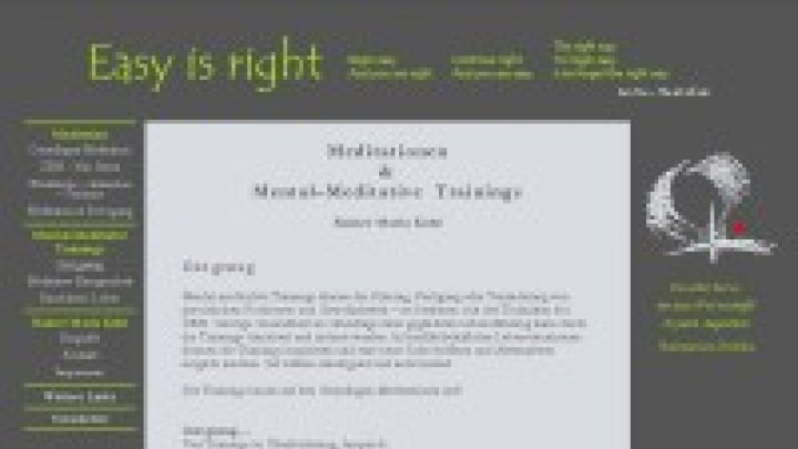 Easy is Right: Meditationen & Mental?Meditative Trainings bei Rainer Maria Kohl
